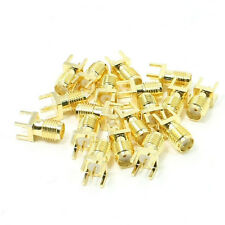20x End Launch PCB Mount SMA Female Plug Straight RF Connector Adapter