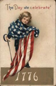 July 4th 1912 Ellen Clapsaddle The day we celerbrate-1776 Antique Postcard