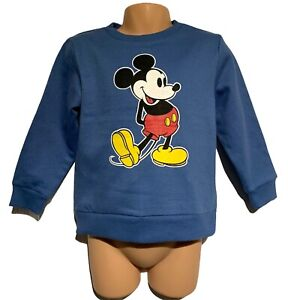 ex Disney store kids Mickey Mouse blue sweatshirt ages 4 5 & 6 years