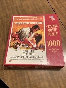 Puzzle - Gone with The Wind - Milton Bradley 1000 Piece 1990 50th Anniversary