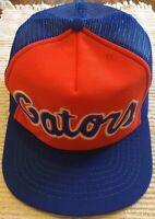 Vintage Florida Gators Trucker Hat Cap Blue & Orange Snapback