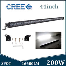 41Inch Slim 200W Offroad Single Row 4D Opticals CREE LED Light Bar Spot Offroad