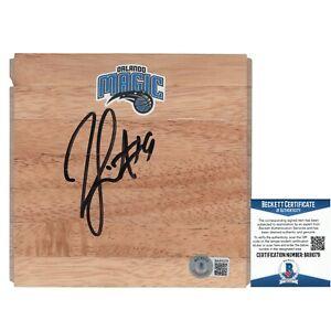 Rashard Lewis Signed Magic Basketball Floor Board Beckett BAS Proof Autograph