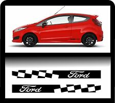 For Ford `2 x Ford Checks`   - Decal Sticker 195 x 30mm!- one for each side!