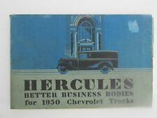 Antique Book  Herculies 1930 Chevrolet Truck Bodies