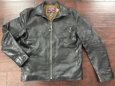 HORSEHIDE Eastman Leather Clothing  Californian Jacket BLACK Size 40 L