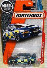 2017  Matchbox #60-125 Blue & Yellow '15 Subaru MRX STI Police Car Diecast 4+ Th