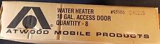 10 Gallon Water Heater Door ATWOOD Polar White  CASE OF 8 Part # 93986  NEW