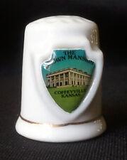 Thimble Brown Mansion Coffeyville Kansas Gold Trim Porcelain Shield