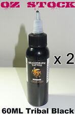 2x Dragon Hawk Tribal Black Tattoo Ink 2OZ/60ml OZ stock