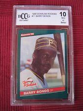 1986 DONRUSS ROOKIES  BARRY BONDS #11 BCCG 10 Mint Beckett