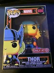 Funko Pop! Marvel Black Light Thor #650 Target Exclusive In Hand
