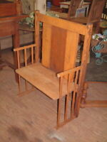 """Vintage Headboard Bench Settee Loveseat 1 of a kind, Shabby Chick 31"""" wide 42X14"""