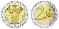 LITAUEN 2 EURO 100 JAHRE UNABHÄNGIGKEIT 2018 bankfrisch