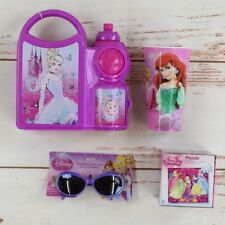 Disney Princess Birthday Set: Lunch Box & Water Bottle, Puzzle, Cup, Sunglasses