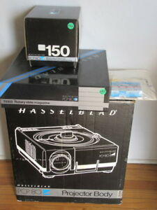 Hasselblad PCP-80 Projector, 150mm, Tray, Remote - RARE - IN BOX