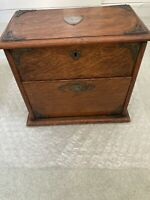 Antique Oak Stationary Desk Box