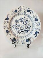 "Set Of 2 Johnson Brothers China Blue Nordic Swirl 10"" Dinner Plates, England"