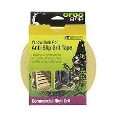 Croc Grip ANTI-SLIP GRIT TAPE 48mmx25m Roll, Water-Resistant YELLOW *Aust Brand