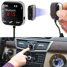 Car Kit Bluetooth Fm Transmitter Mp3 Player 3.5mm Audio Aux Dual Usb Charger