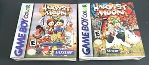 2 Gameboy Games REPRODUCTION  GBC ~ HARVEST MOON & HM2 ~ Complete w/Box Manual