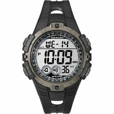 Mens Timex Marathon Indiglo Black Rubber Sports Alarm Digital Watch T5K802