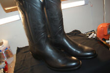 NIB Mens Ross Braided Tall 9.5 medium $798 Boots Black handcrafted handmade