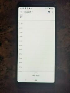 Google Pixel 3a 64GB - Black (Unlocked) w/ case & screen cover, 1 line on screen