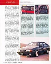 SAAB 9000 Aero 1994 1995 1996 1997 Original Car Review Report Print Article J887