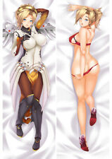"Overwatch OW Mercy Sexy Dakimakura Anime Body Pillow Cover Case 150x50 59"" USA"
