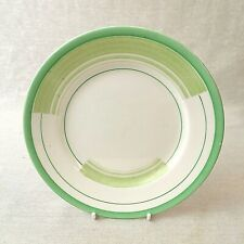 Shelley Side or Tea Plate 7 Inches Bands and Lines 12131 Green Regent Shape