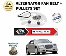 FOR CHRYSLER 300C 3.0 TD CRD 2005-> ALTERNATOR FAN BELT & PULLEY TENSIONER SET