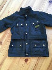 Boys Barbour International wax jacket 6/7 (black) motorcycle