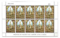 Thailand 1996 King Bhumibol Golden Jubilee 100 Baht Gold Foiled Stamp Sheet MUH