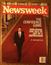 NEWSWEEK MAGAZINE MARCH 2 2009  BARACK OBAMA, BARBIE TURNS 50