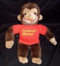 "12"" BABY GUND CURIOUS GEORGE BROWN MONKEY STUFFED ANIMAL PLUSH TOY W/ RED SHIRT"