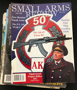 Lot of 14 Small Arms Review Magazine (Guns Military) Volumes 1 to 8 1998 to 2005