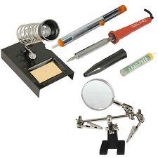 30w Kit de Soldadura Hierro Soporte Esponja Desoldar bomba de alambre de soldadura lupa