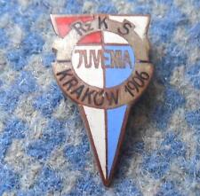 JUVENIA KRAKOW POLAND RUGBY MOTORCYCLE CHESS WEIGHTLIFTING 1970's SILVER PIN