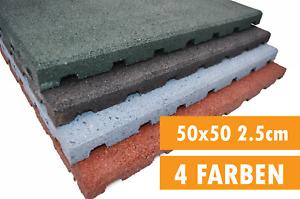 Fallschutzmatten Gummimatten Spielplatzmatten Fallschutzplatte 50 x 50 x 2,5 cm