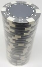 Poker Chips (25) Grey Dice Mold 11.5 gram Clay Composite FREE SHIPPING *