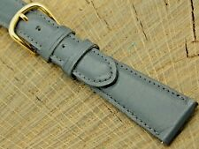 Vintage deBeer Gray Calfskin w Gold Tone Buckle Watch Band 19mm Mens NOS Unused