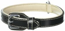 "Aspen Pet Products Leather Petmate Collar, 3/4"" x 16"", Black"