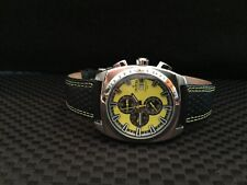 Croton Men's  Yellow Dial Chronograph Watch. Very Nice!