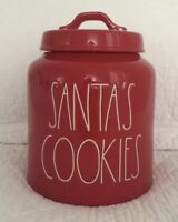 Rae Dunn SANTA'S COOKIES Christmas Red 2018 Canister