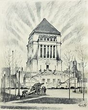 """Frederick Polley """"Monument Site"""" 9.5"""" x 7.5"""" Print"""