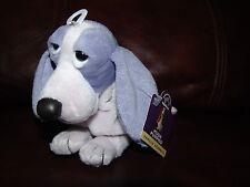 "Applause Hush Puppies Vanilla Beanbag Purple Puppy Dog Plush Beanie Doll 6"""