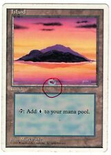 MTG MAGIC THE GATHERING ***ISLAND*** MISPRINT COLOR SPOT FOURTH EDITION SP