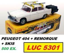 DINKY 536 PAR DAN TOYS PEUGEOT 404 + REMORQUE EDITION 500 EX.  #DAN-109 AU 1/43è