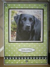 Handmade Labrador Dog Birthday Card Puppy Greeting Black Green Lab Retriever